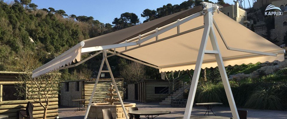 Portable Patio Awnings : Kaprix awnings pergolas and shades