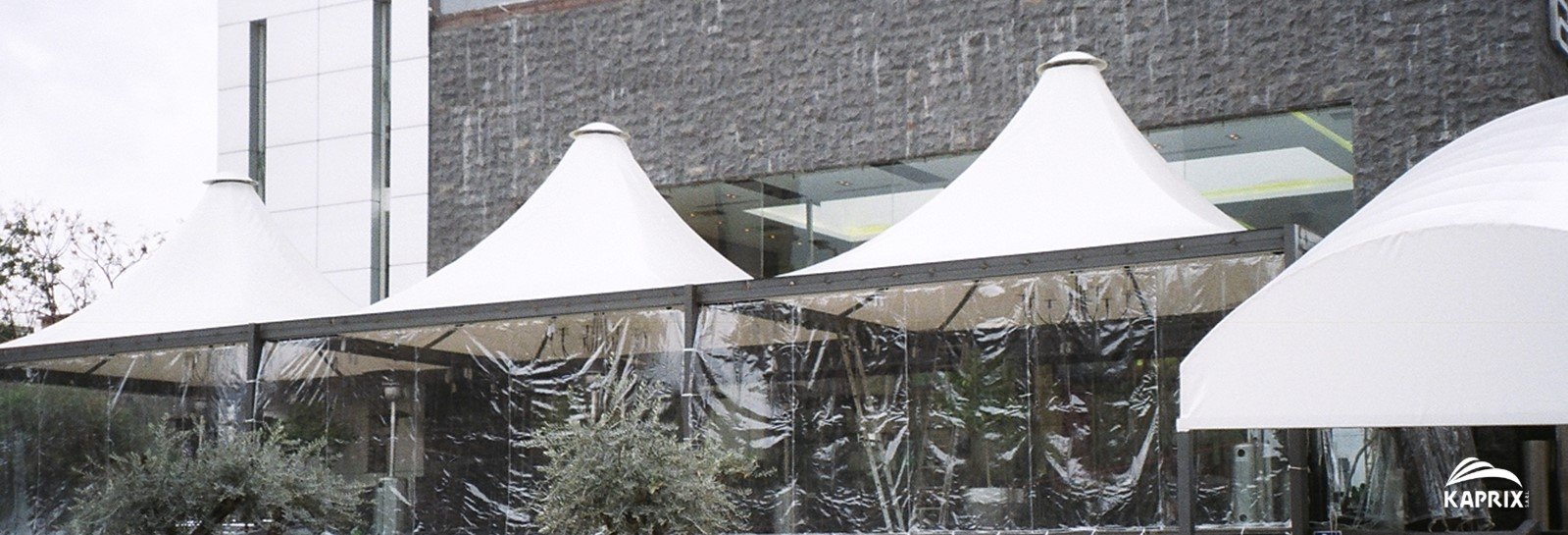 transparent outdoor curtain panels